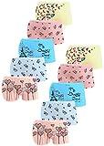 LOREZA ® 10er Pack Mädchen Pantys Boxershorts Unterwäsche aus Baumwolle (152-158, Modell 8)