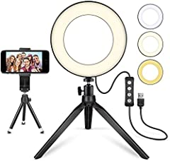 1.【A Brighter Vision】: This ring light kit can make your visual world more beautiful & glorious; look nicer when you video with families and friends. With this ringlight, your images on Instagram and Facebook will be more beautiful and charming. It w...