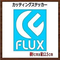 【④】フラックス FLUX カッティング ステッカー (白)