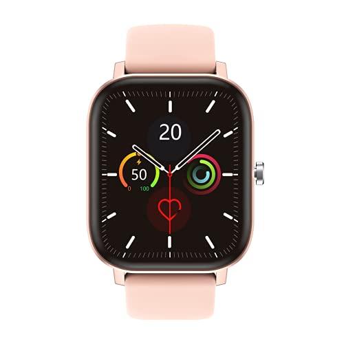 RIGHT TECHNOLOGY APOLLY 3 Smartwatch für Damen,1.75 Zoll Touch-Farbdisplay Armbanduhr mit Pulsuhr Fitness Tracker Wasserdicht Sportuhr mit Schrittzähler,Schlafmonitor, IOS/Android kompatibel, Rosa