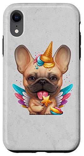 iPhone XR Fawn French Bulldog Ice Cream Unicorn Case