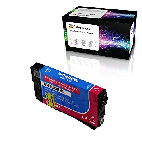 OCProducts Remanufactured Ink Cartridge Replacement for Epson 802 802XL for Workforce Pro WF-4720 WF-4730 WF-4734 WF-4740 EC-4020 EC-4030 EC-4040 (Magenta) -  OC802XLM