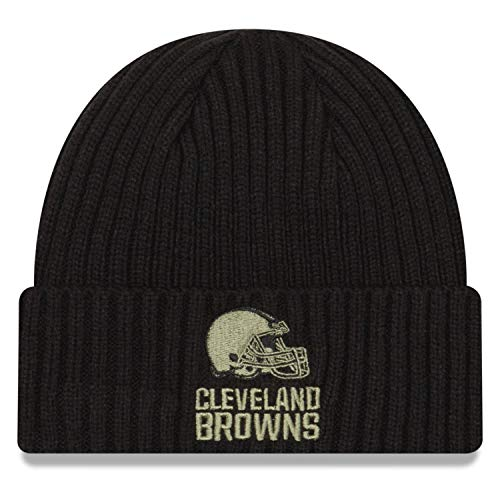 New Era Cleveland Browns Beanie Salute To Service 2020 Black - One-Size