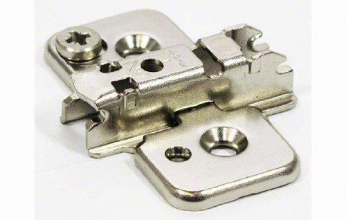 CLIP Montageplatte, 3 mm, Stahl, Spax-Schrauben, HV: Exzenter