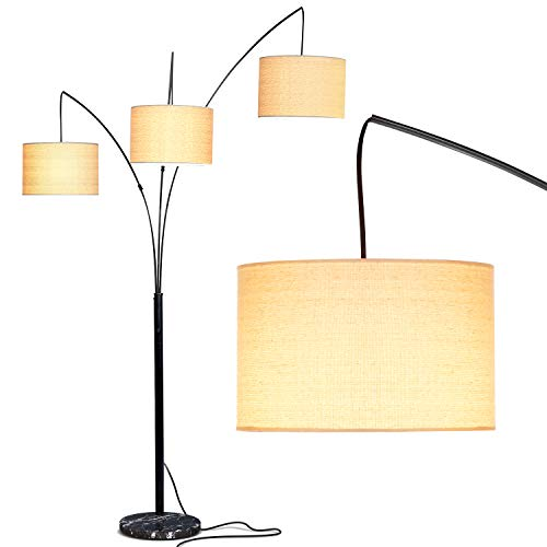 3 Arm Arc Floor Lamp with Hanging Lights