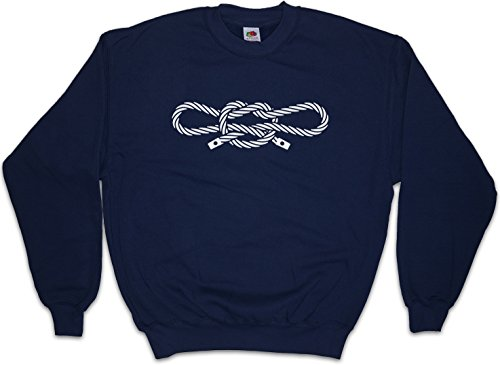 Urban Backwoods Narcos Handcuff Knot Sweatshirt Pullover Blau Größe L