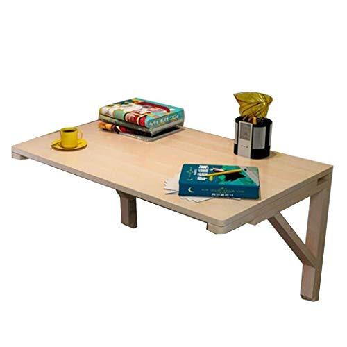 Decoración de la vida Mesa plegable Mesas de jardín Mesa de comedor Escritorio de pared Mesa de hojas abatibles montada en la pared Mesa de comedor de madera maciza multifunción Escritorio Cocina (