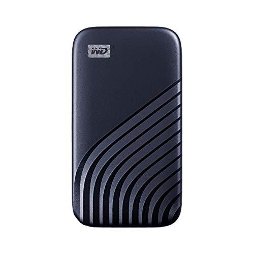 WD My Passport SSD 500GB - tecnología NVMe, USB-C, velocidad de lectura hasta 1050MB/s & de escritura hasta 1000MB/s - Azul medianoche