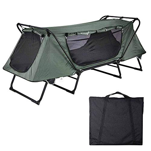Yescom 1-Person Folding Tent Cot Oxford with Mesh Carry Bag Portable Sleeping Bed Outdoor Off Ground Tent Camping Hiking