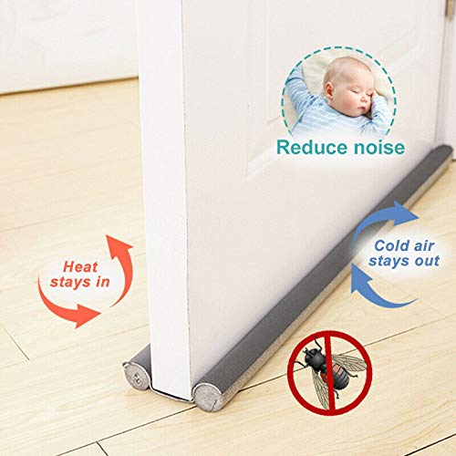 Flexible Door Bottom Sealing Strip Guard Wind Stopper Dust Wind Sealer Home Door Decoration Accessories