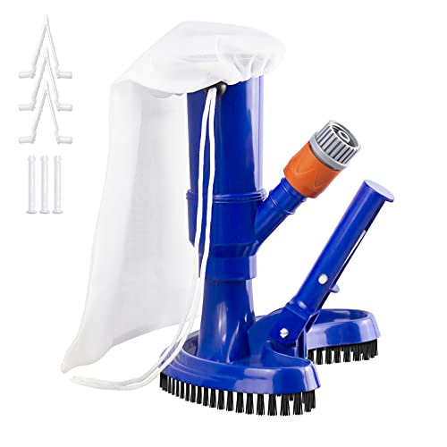 UGarden Portable Pool Vacuum Jet Underwater Cleaner with Brush and Leaf...