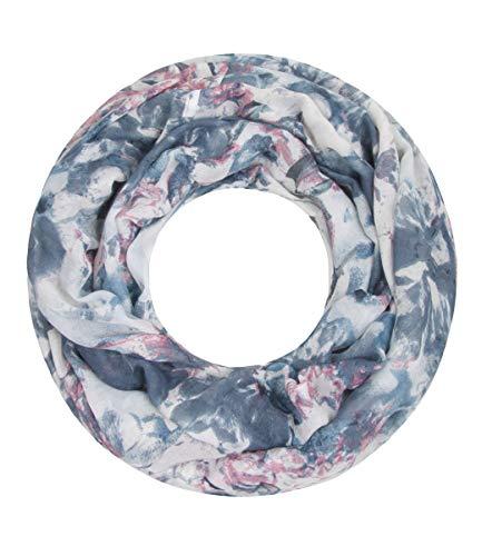 Majea NEUE Saison Damen Loop Schal viele Farben Muster Schlauchschal Halstuch in aktuellen Trendfarben, Blau 17, 180 x 90