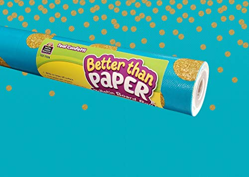 Teacher Created Resources Teal Confetti Better Than Paper Bulletin Board Roll