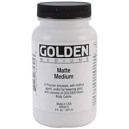 Golden Acryl Med 32 Oz Matte Medium