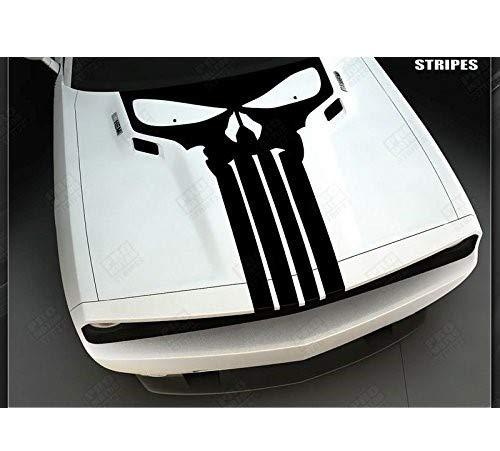 myrockshirt Punisher XXL Motorhaube 120x60 cm Aufkleber für Auto,Scheibe, Lack,Wand,Wandtattoo aus Hochleistungsfolie für alle glatten Flächen Autoaufkleber Tuning Decal Sticker