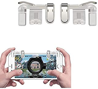 DRYPHON PUBG Mobile Trigger || Transparent || 1 Pair of Sensitive Game Triggers for PUBG/Knives Out/Rules of Survival for All Android and iOS Phones (Pack of 1)