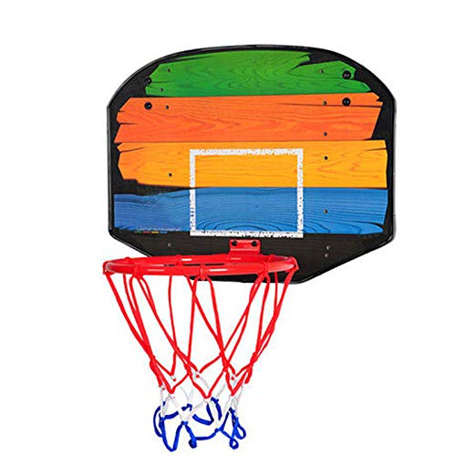 ZXCVB Aro de baloncesto para niños, Bastidor de baloncesto para niños, Bastidor de tiro sin perforación, Bola Boy Baby Hanging Shooting Toy Stripe