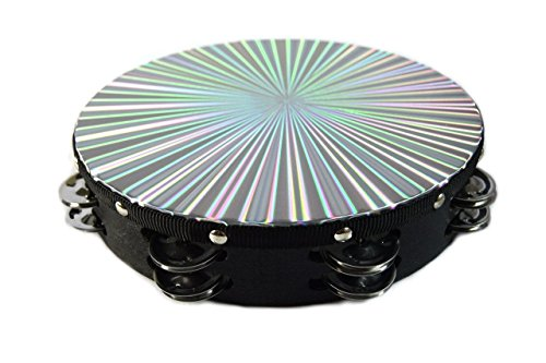 8' 3D Tambourine Music Double Row Jingle Percussion Instrument Church