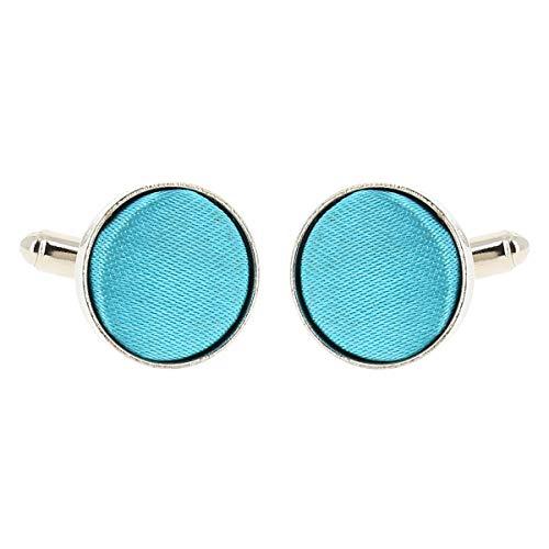 Boutons de Manchette Bleu turquoise pour Homme - Accessoire Poignet Chemise et Veste de Costume - Mariage, Cérémonie