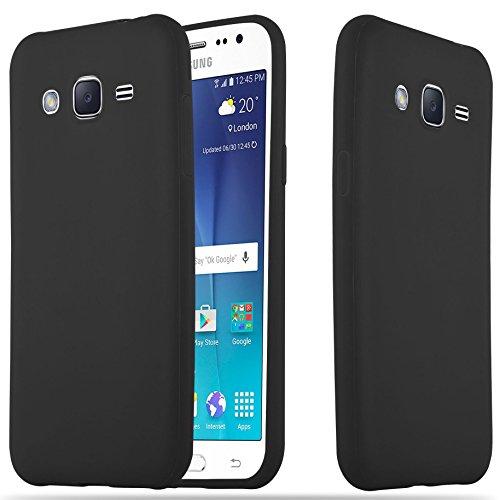 Cadorabo Coque pour Samsung Galaxy A5 2015 en Candy Noir - Housse Protection Souple en Silicone TPU avec Anti-Choc et Anti-Rayures - Ultra Slim Fin Gel Case Cover Bumper