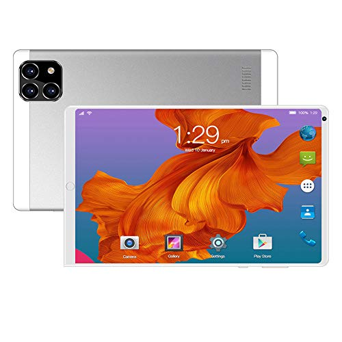 ELLENS Tableta Android de 8 Pulgadas, Tableta PC desbloqueada (con Ranura para Tarjeta SIM), Soporte para teléfono 3G, Extensión de 128GB ROM de 16GB Quad Core