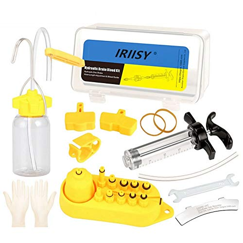 Iriisy - Juego de 29 piezas de freno de disco hidráulico, purga de frenos de disco, herramienta de reparación con caja