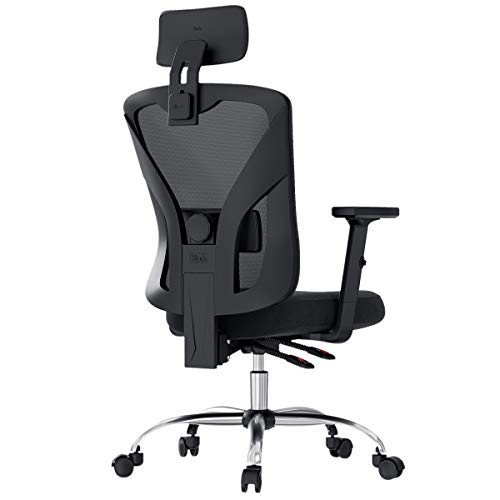Hbada Ergonomic Office Desk Chair with Adjustable Armrest, Lumbar Support, Headrest and Breathable...