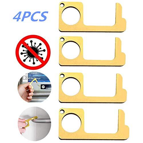 Abrepuertas sin contacto, 4 piezas, cierrapuertas eléctrico para puertas cortafuegos termoeléctrico de...