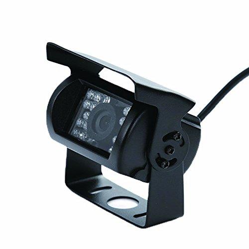 Wen&Cheng Caméra de sauvegarde étanche avec 18 LED infrarouges, vision nocturne, vision arrière, caméra CCTV HD pour voiture, bus et camion