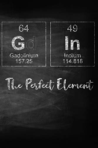 Gin The Perfect Element: A Periodic Table Inspired Matte Soft Cover Notebook Journal to Write In. 120 Blank Lined Pages for Gin Lovers