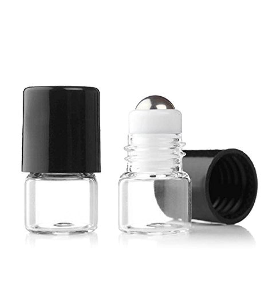 購入多分倫理的Grand Parfums Empty 1ml Micro Mini Rollon Dram Glass Bottles with Metal Roller Balls - Refillable Aromatherapy Essential Oil Roll On - Bulk - 1/4 Dram Pack of 6 - [並行輸入品]