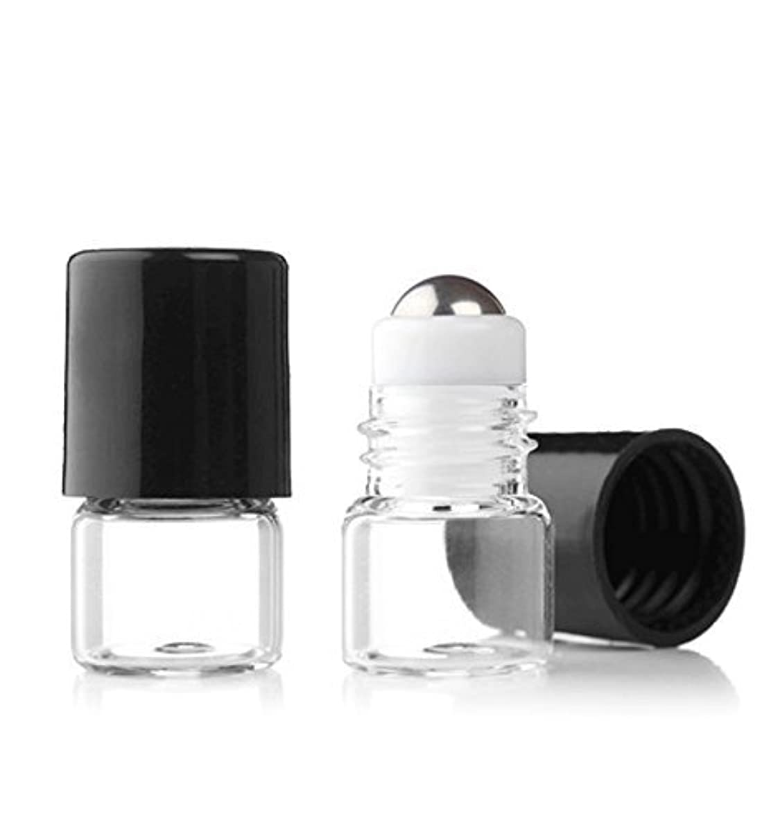 便益下位不適Grand Parfums Empty 1ml Micro Mini Rollon Dram Glass Bottles with Metal Roller Balls - Refillable Aromatherapy Essential Oil Roll On - Bulk - 1/4 Dram Pack of 6 - [並行輸入品]