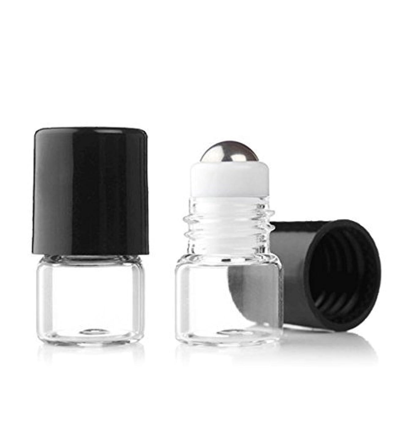 意気揚々顔料ピジンGrand Parfums Empty 1ml Micro Mini Rollon Dram Glass Bottles with Metal Roller Balls - Refillable Aromatherapy Essential Oil Roll On - Bulk - 1/4 Dram Pack of 6 - [並行輸入品]