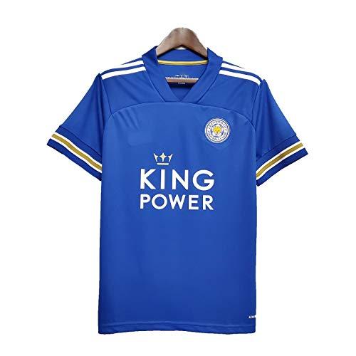 YHDQ 20-21 Stagione Leicester City Soccer Suit,Top maniche corte per adulti sport maglia da calcio Blu S