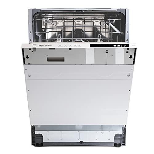 Montpellier Domestic Appliances Integrated 60cm Dishwasher, White, MDI605