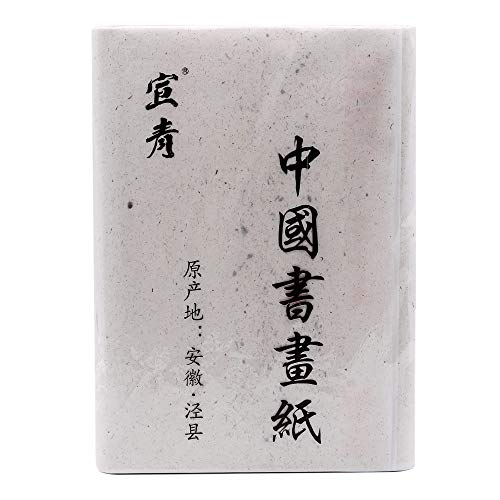Artecho Chinese Calligraphy Paper, Calligraphy Sumi Paper, Raw Xuan Paper, 100 Sheets, 13.8x27.2 inch(35x69cm) for Beginning