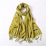 HCJZ Sciarpa Sciarpe Donna Estate Sottile Scialli Solidi E Avvolge Sciarpe della Signora Bandana Femminile Hijab Inverno Lungo Foulard Testa,Ivory