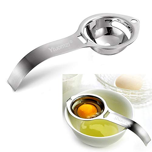 Egg Separator Egg Yolk White Filter Food Grade Egg Divider Stainless Steel Egg Sieve Kitchen Gadget Cooking/Baker Tool Egg Extractor (Silver)