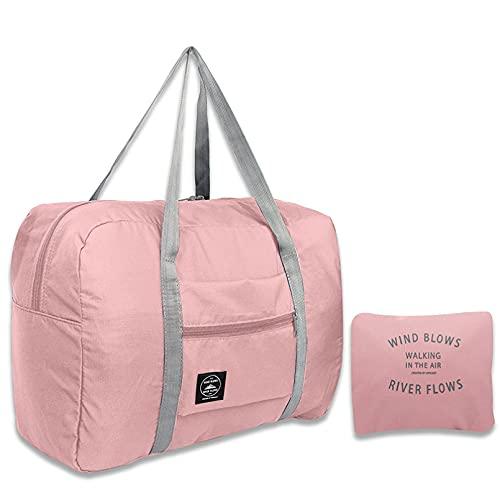 Nylon al aire libre plegable ligero bolsas de viaje unisex gran capacidad bolsa equipaje mujeres impermeable bolsos hombres bolsas de viaje