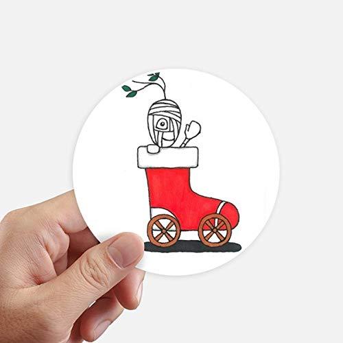 DIYthinker Horus Kerstmis Slee Blad Bloem Ronde Stickers 10 Cm Wandkoffer Laptop Motobike Decal 8 Stks