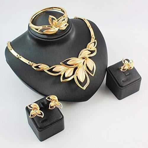 GanYu aloiness Gold Earrings Necklaces Bracelet Set Women Earrings Retro Earrings Jewelry Girls Gift for Dating