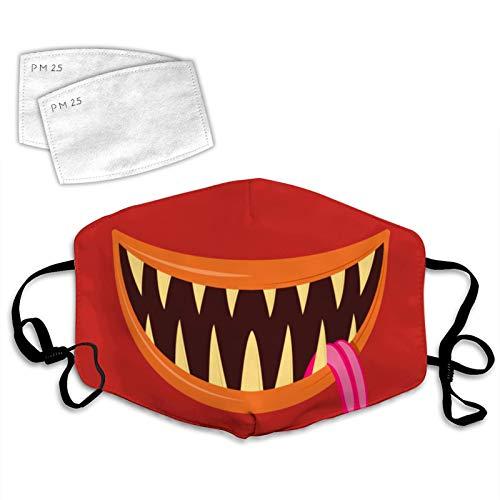 835 Halloween Horror copertura copertura del viso decorazione Unisex lavabile riutilizzabile traspirante 2PCS filtri Halloween Horror #11 Taglia unica