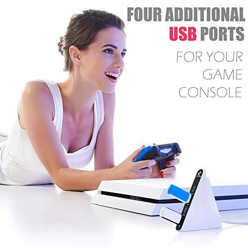 USB Hub 3.0 Vertical Data Hub with Long Cord - 4 Port Black