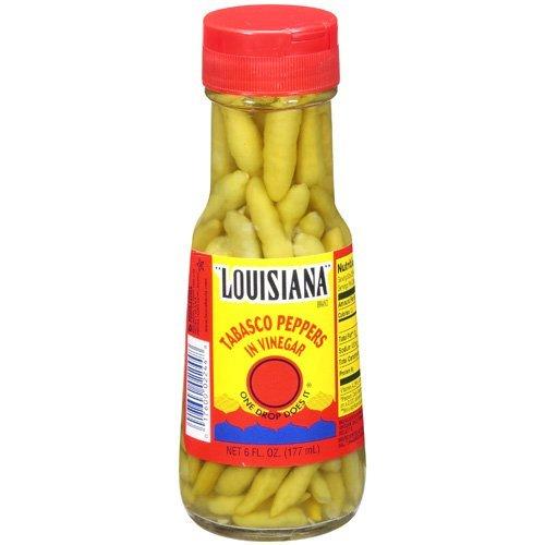 Louisiana Tabasco Peppers in Vinegar 6oz, Pack of 3