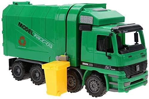 Juguete de Modelo de camión de Basura, Plástico Respetuoso del Medio Ambiente Relación 1:22 Gran tamaño Saneamiento Vehículo Coche Basura Modelo de Coche Regalo para niños