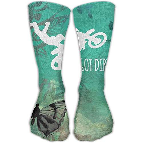 Nifdhkw Got Dirt Motorcross Best High Performance Athletic Running Casual Socks For Men & Women