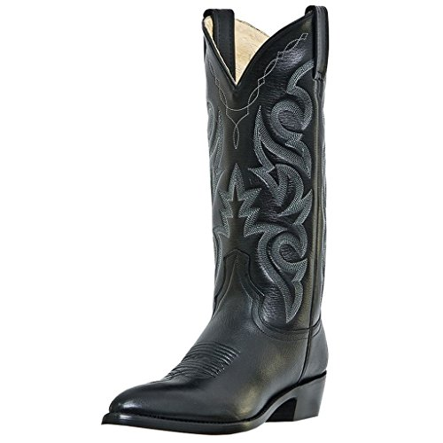 "Dan Post Men's Milwaukee JToe 13"" Black Mignon Corona Leather Cowboy Boot 9.5 B"