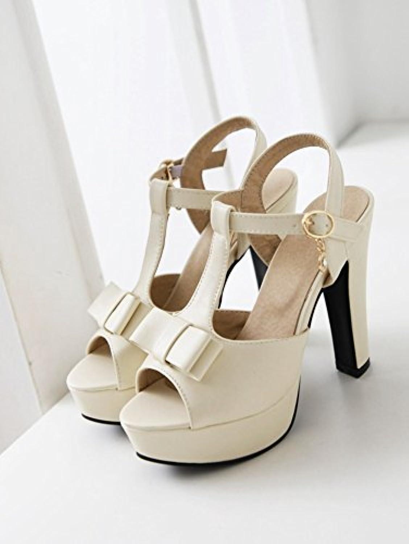 WHW Women's Wedge Heel Wedges Heels Peep Toe Platform Comfort Open Toe Sandals,ricewhite,44