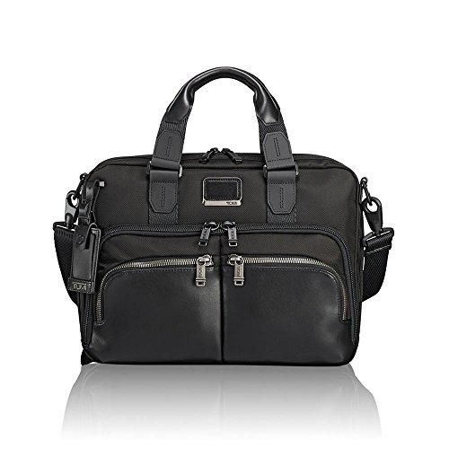 Tumi Alpha Bravo - Albany Slim Commuter Brief 14' Briefcase, 37 cm, 12.17 liters, Black