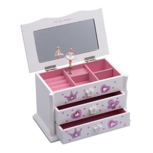 55344750f0742 Katz Dancewear Girls ballet dance white Jewellery box JB-03 Christmas  Birthday Gift Present